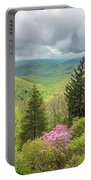 Conifers And Blooms Portable Battery Charger