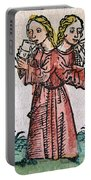 Conjoined Twins, Nuremberg Chronicle Portable Battery Charger
