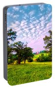 Conley Road Meadow, Oaks, Barn, Spring  Portable Battery Charger
