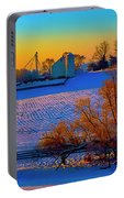 Conley Road Farm Winter  Portable Battery Charger