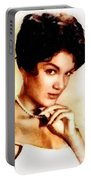 Connie Francis, Music Legend By John Springfield Portable Battery Charger