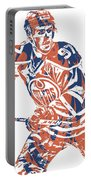 Connor Mcdavid Edmonton Oilers Pixel Art 3 Portable Battery Charger