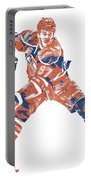 Connor Mcdavid Edmonton Oilers Pixel Art 4 Portable Battery Charger