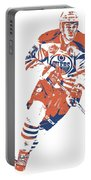 Connor Mcdavid Edmonton Oilers Pixel Art 6 Portable Battery Charger