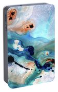 Contemporary Abstract Art - The Flood - Sharon Cummings Portable Battery Charger
