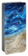 Contemporary Abstract Beach Nacl Portable Battery Charger