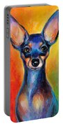 Contemporary Colorful Chihuahua Chiuaua Painting Portable Battery Charger