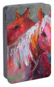 Contemporary Horses Painting Portable Battery Charger