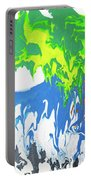 Contemporary Painting Of Moose Portable Battery Charger