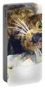 Contented Cat Portable Battery Charger