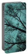 Contrasted Trees Portable Battery Charger