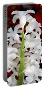 Contrasting Red And White Flowers Portable Battery Charger
