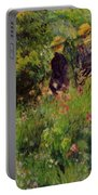 Conversation In A Rose Garden 1876 Portable Battery Charger
