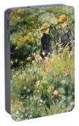 Conversation In A Rose Garden Portable Battery Charger