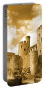 Conwy Castle And The Telford Suspension Bridge North Wales Portable Battery Charger