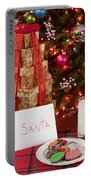 Cookies And Milk For Santa Portable Battery Charger