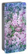 Cool Blue Apple Blossoms Portable Battery Charger