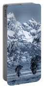 Cool Blue Monotone Grand Teton Portable Battery Charger