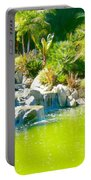 Cool Green Waterfall Portable Battery Charger