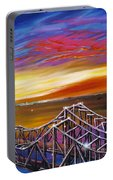 Cooper River Bridge Portable Battery Charger by James Christopher Hill