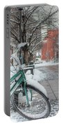 Copenhagen In The Winter.a Lonely Bike Portable Battery Charger