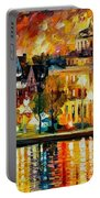 Copenhagen Original Oil Painting  Portable Battery Charger