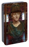 Copper Bust In Rome Portable Battery Charger