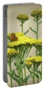Copper On Yellow - Butterfly - Vignette 2 Portable Battery Charger