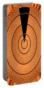 Copper Panel Abstract Portable Battery Charger