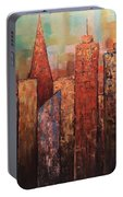 Copper Points, Cityscape Painting Portable Battery Charger