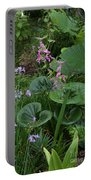 Coral Flower Path Portable Battery Charger
