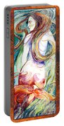 Coral Mermaid Portable Battery Charger