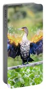 Cormorant Dries Its Wings Portable Battery Charger