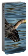 Cormorant In Flight Portable Battery Charger