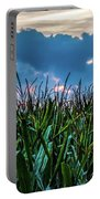 Corn And Clouds Panorama Portable Battery Charger