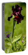 Corn Flower With A Friend Visiting Portable Battery Charger