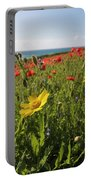 Corn Marigold And Poppies Portable Battery Charger
