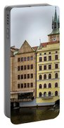 Corner Buildings In Prague Portable Battery Charger