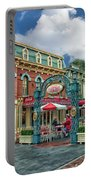 Corner Cafe Main Street Disneyland 01 Portable Battery Charger