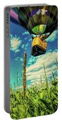 Cornfield View Hot Air Balloons Portable Battery Charger by Bob Orsillo