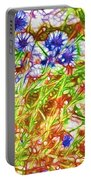 Cornfield With Cornflowers Portable Battery Charger