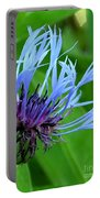 Cornflower Centaurea Montana Portable Battery Charger