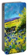 Cornflowers In Ver Portable Battery Charger