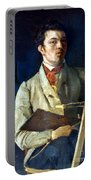 Corot With Easel, 1825 Portable Battery Charger