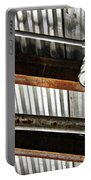 Corrugated Metal Abstract 10 Portable Battery Charger