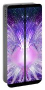 Cosmic Collage Mosaic Left Mirrored Portable Battery Charger