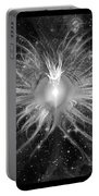 Cosmic Heart Of The Universe Bw Portable Battery Charger