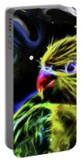 Cosmic Parrot  Portable Battery Charger