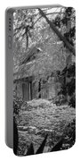 Cottage Black White Gardens Louisiana  Portable Battery Charger
