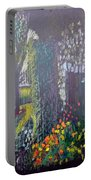 Cottage Flowers Portable Battery Charger